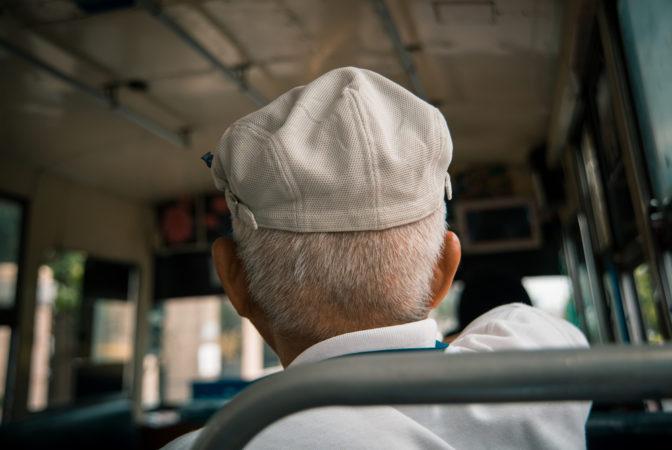 old man on bus
